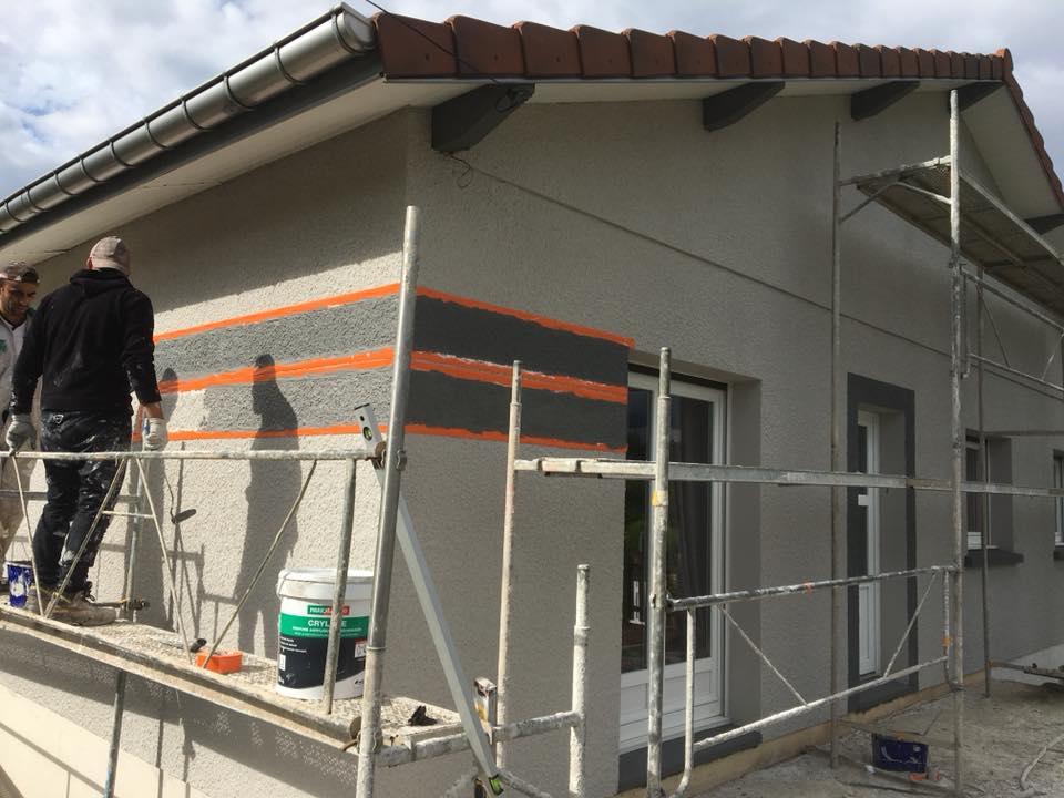 crépi isolation rénovation ravalement enduit peinture Etival